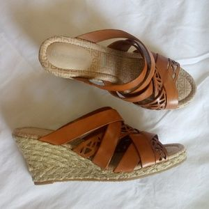 Rockport Strappy Espadrille Wedges Size 6